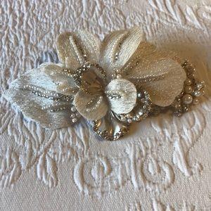 David's Bridal Headpiece w/ Pearls & Crystals